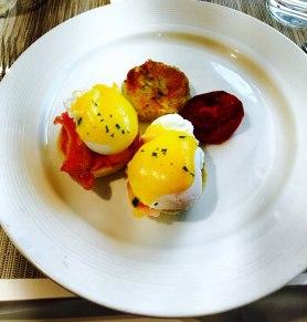 Eggs Benedict in Oberoi
