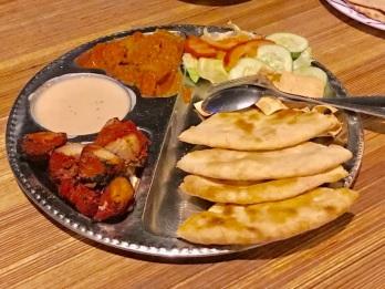 A Chicken Tikka Thali