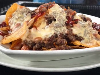 Cheesy Nachos with Meat